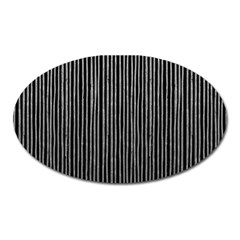 Stylish Silver Strips Oval Magnet by gatterwe
