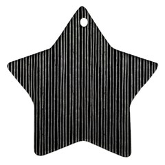 Stylish Silver Strips Star Ornament (two Sides) by gatterwe