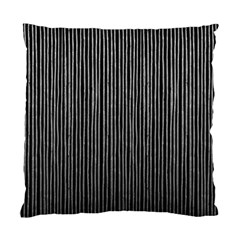 Stylish Silver Strips Standard Cushion Case (two Sides) by gatterwe