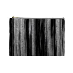 Stylish Silver Strips Cosmetic Bag (large)  by gatterwe