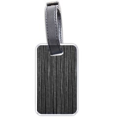 Stylish Silver Strips Luggage Tags (one Side)  by gatterwe