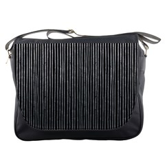 Stylish Silver Strips Messenger Bags by gatterwe