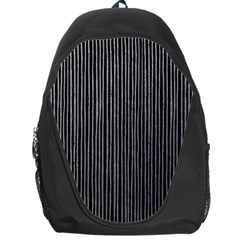 Stylish Silver Strips Backpack Bag by gatterwe
