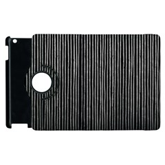 Stylish Silver Strips Apple Ipad 3/4 Flip 360 Case by gatterwe