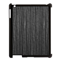 Stylish Silver Strips Apple Ipad 3/4 Case (black) by gatterwe
