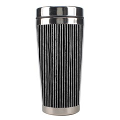 Stylish Silver Strips Stainless Steel Travel Tumblers by gatterwe