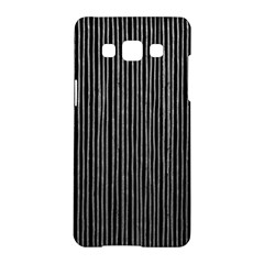 Stylish Silver Strips Samsung Galaxy A5 Hardshell Case  by gatterwe