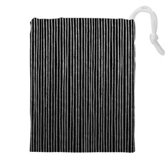 Stylish Silver Strips Drawstring Pouches (xxl) by gatterwe