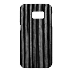 Stylish Silver Strips Samsung Galaxy S7 Hardshell Case  by gatterwe