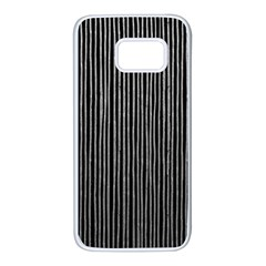 Stylish Silver Strips Samsung Galaxy S7 White Seamless Case by gatterwe