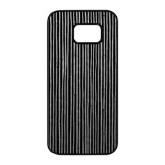 Stylish Silver Strips Samsung Galaxy S7 Edge Black Seamless Case by gatterwe