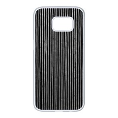 Stylish Silver Strips Samsung Galaxy S7 Edge White Seamless Case by gatterwe