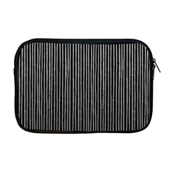 Stylish Silver Strips Apple Macbook Pro 17  Zipper Case by gatterwe