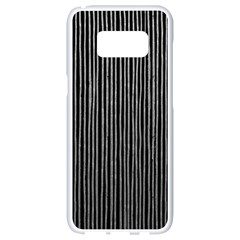 Stylish Silver Strips Samsung Galaxy S8 White Seamless Case by gatterwe