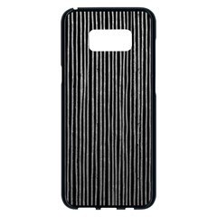 Stylish Silver Strips Samsung Galaxy S8 Plus Black Seamless Case by gatterwe