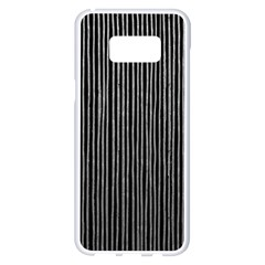 Stylish Silver Strips Samsung Galaxy S8 Plus White Seamless Case by gatterwe