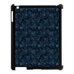 Blue Flower Glitter Look Apple Ipad 3/4 Case (black) by gatterwe