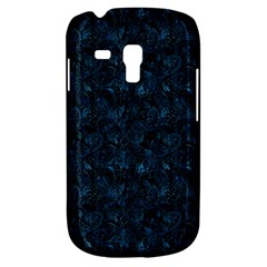 Blue Flower Glitter Look Galaxy S3 Mini by gatterwe