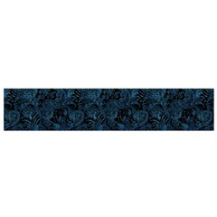 Blue Flower Glitter Look Flano Scarf (small) by gatterwe