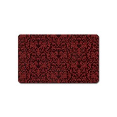 Red Glitter Look Floral Magnet (name Card) by gatterwe