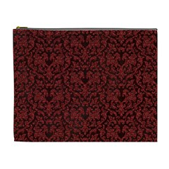 Red Glitter Look Floral Cosmetic Bag (xl) by gatterwe