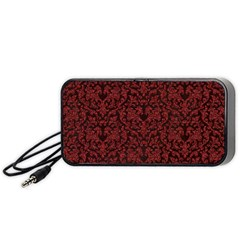 Red Glitter Look Floral Portable Speaker (black) by gatterwe