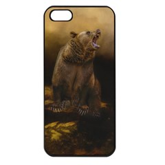 Roaring Grizzly Bear Apple Iphone 5 Seamless Case (black) by gatterwe