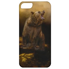 Roaring Grizzly Bear Apple Iphone 5 Classic Hardshell Case by gatterwe