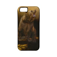 Roaring Grizzly Bear Apple Iphone 5 Classic Hardshell Case (pc+silicone) by gatterwe