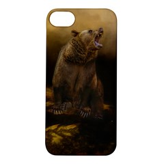 Roaring Grizzly Bear Apple Iphone 5s/ Se Hardshell Case by gatterwe