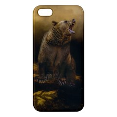 Roaring Grizzly Bear Iphone 5s/ Se Premium Hardshell Case by gatterwe