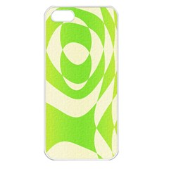 Green Shapes Canvas                        Apple Iphone 5 Seamless Case (white) by LalyLauraFLM