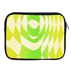 Green Shapes Canvas                        Apple Ipad 2/3/4 Protective Soft Case by LalyLauraFLM