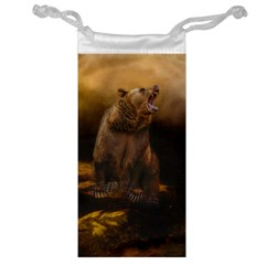 Roaring Grizzly Bear Jewelry Bag by gatterwe
