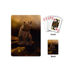 Roaring Grizzly Bear Playing Cards (mini)  by gatterwe