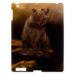 Roaring Grizzly Bear Apple Ipad 3/4 Hardshell Case by gatterwe