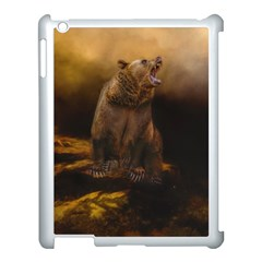 Roaring Grizzly Bear Apple Ipad 3/4 Case (white) by gatterwe