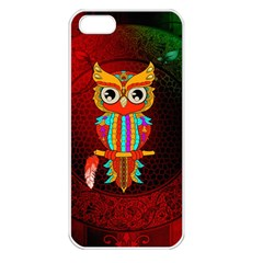 Cute Owl, Mandala Design Apple Iphone 5 Seamless Case (white) by FantasyWorld7