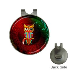 Cute Owl, Mandala Design Hat Clips With Golf Markers by FantasyWorld7