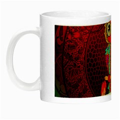 Cute Owl, Mandala Design Night Luminous Mugs by FantasyWorld7