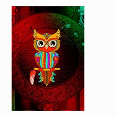 Cute Owl, Mandala Design Small Garden Flag (two Sides) by FantasyWorld7