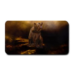 Roaring Grizzly Bear Medium Bar Mats by gatterwe