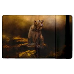 Roaring Grizzly Bear Apple Ipad 3/4 Flip Case by gatterwe