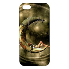 Steampunk Lady  In The Night With Moons Iphone 5s/ Se Premium Hardshell Case by FantasyWorld7