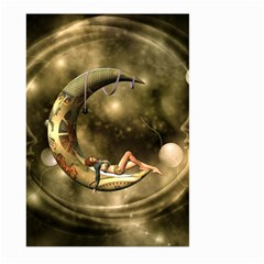 Steampunk Lady  In The Night With Moons Large Garden Flag (two Sides) by FantasyWorld7