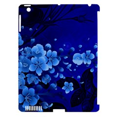 Floral Design, Cherry Blossom Blue Colors Apple Ipad 3/4 Hardshell Case (compatible With Smart Cover) by FantasyWorld7