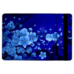 Floral Design, Cherry Blossom Blue Colors Ipad Air Flip by FantasyWorld7