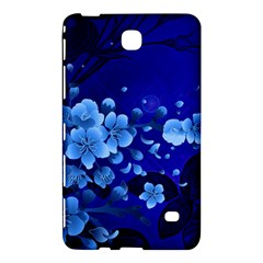 Floral Design, Cherry Blossom Blue Colors Samsung Galaxy Tab 4 (7 ) Hardshell Case  by FantasyWorld7