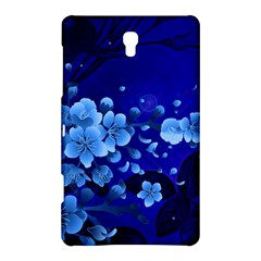 Floral Design, Cherry Blossom Blue Colors Samsung Galaxy Tab S (8 4 ) Hardshell Case  by FantasyWorld7
