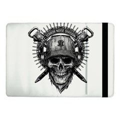 Skull Helmet Drawing Samsung Galaxy Tab Pro 10 1  Flip Case by amphoto